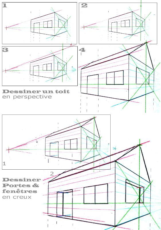 Dessiner Une Maison En Perspective Simplement Association