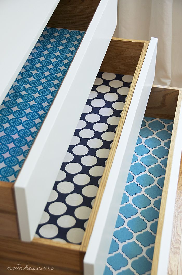 DIY FABRIC DRAWER LINERS Decorate The Inside Of Your Drawers With