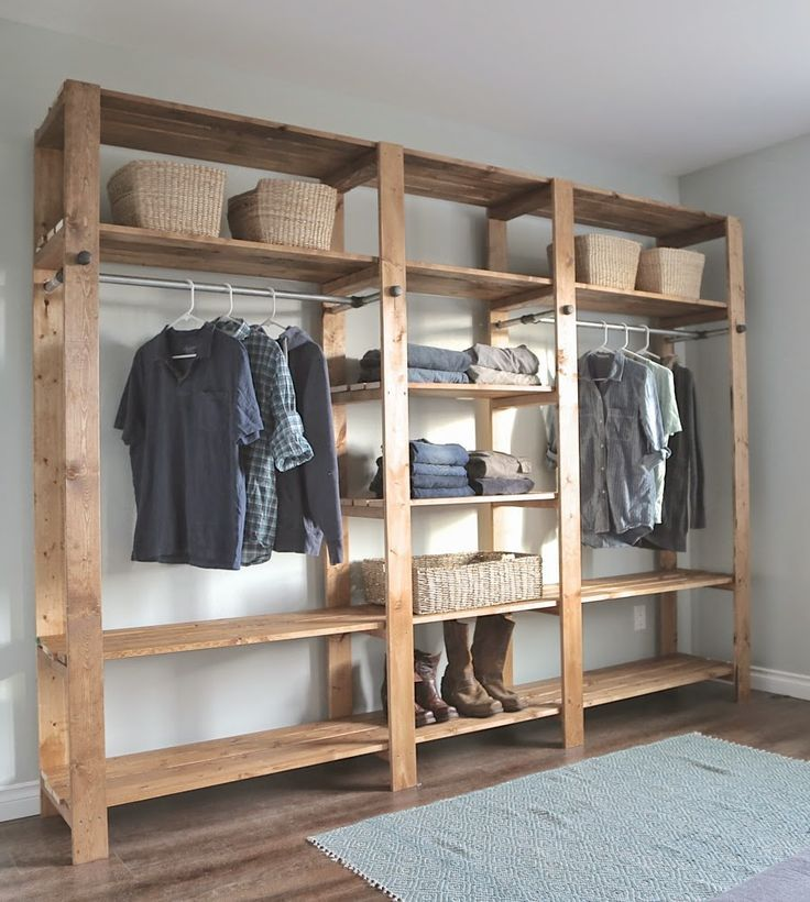 DIY How To Build An Industrial Style Wood Slat Closet System With