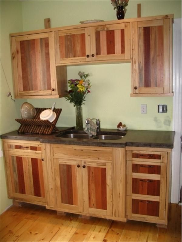 DIY Pallet Kitchen Cabinets Low Budget Renovation