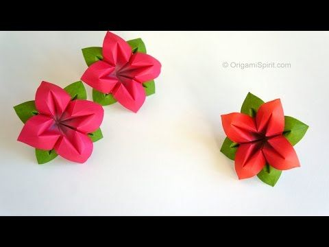 Download Video Origami Flower Flor De Papel 4 P Talos