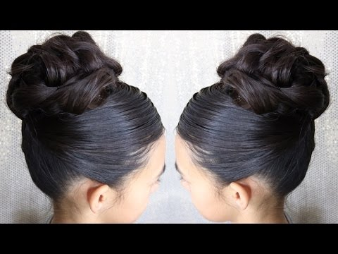 Easy Elegant High Updo Hairstyle Prom Bun Special Ocassion