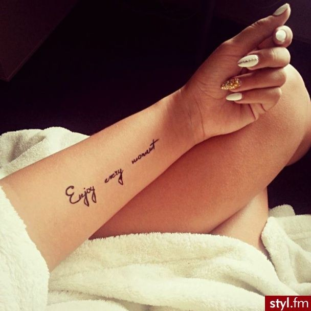 Enjoy Every Moment TATTOOS Pinterest Tatuajes Palabras Para De 120