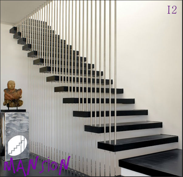Escaleras De Madera Y Cristal Trendy Acero Inoxidable Interior Kit