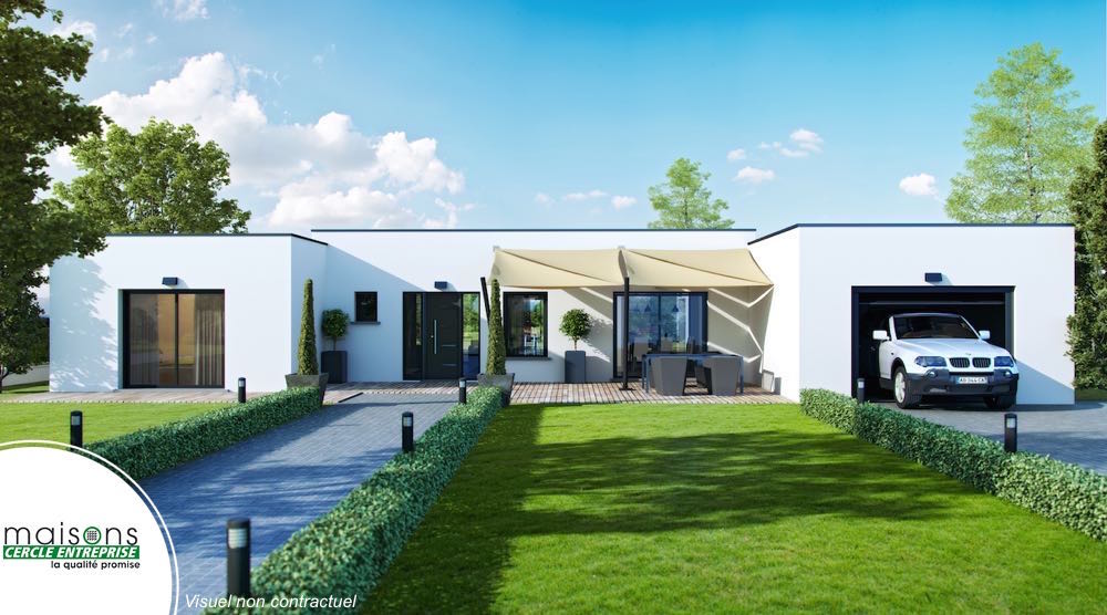 Esthetia Maison Contemporaine Plan En H