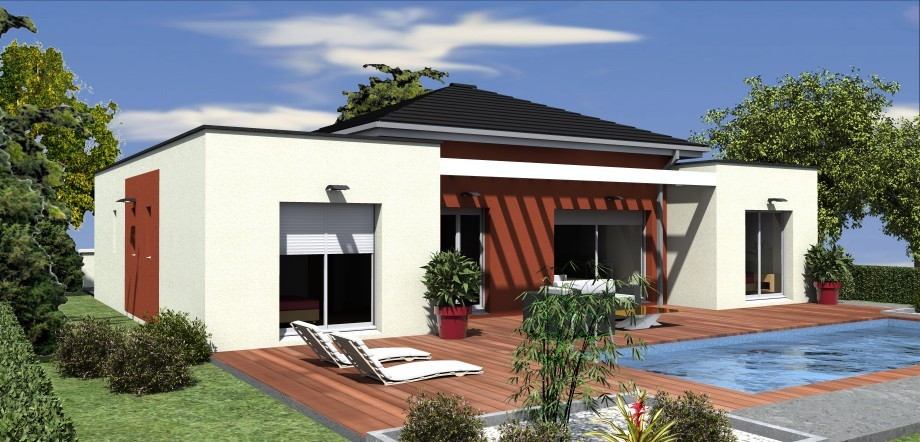 Facade Maison Plain Pied3 A1group Co
