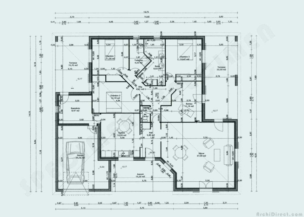 Fascinant Plan Maison 150m2 De New Tunisie Tunisienne