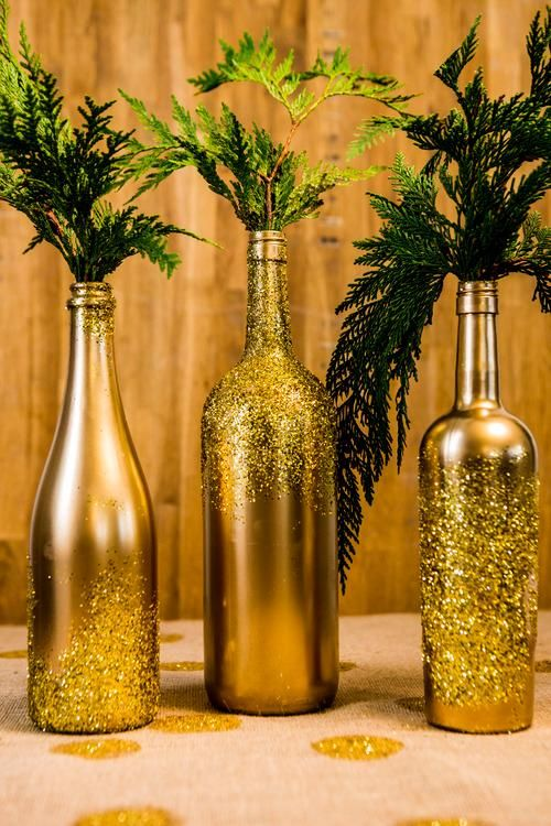 Fast And Easy Glittering Decorations BOTELLAS Pinterest