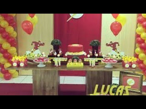 FIESTA DE FLASH PARTY BOYS IDEAS MESA DULCES DECORACION 2018