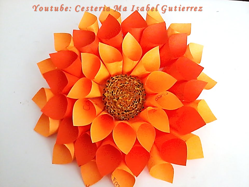 Flores De Papel DIY How To Make Paper Flowers YouTube