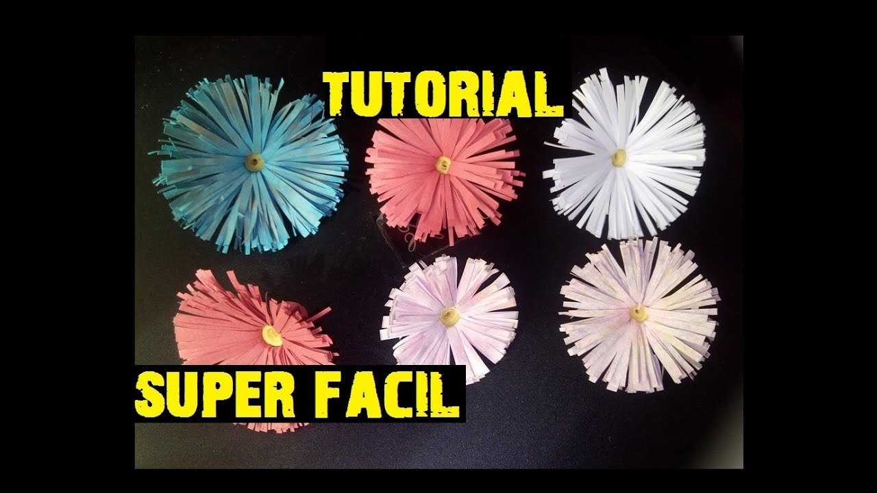 Flores De Papel Margaritas Manualidades Scrapbook Faciles YouTube