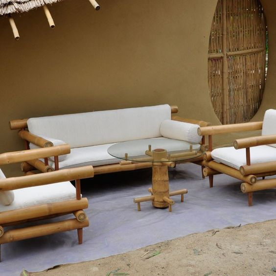 Furniture Bamboo Sofa More CASA Pinterest Bambu Moveis Y