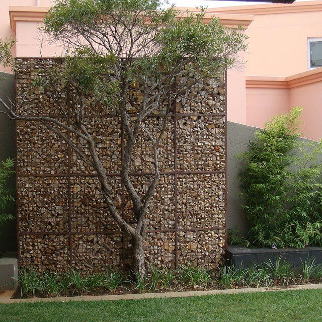 Gabion Wall For Privacy Construcci N En Piedra Pinterest