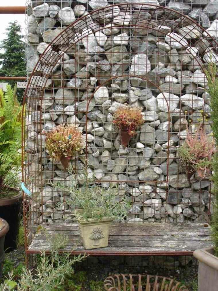 Gaviones Decorativos Para Patios Y Jardines 34 Ideas