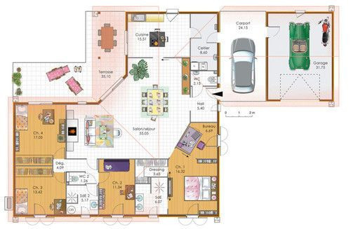 Grande Maison De Plain Pied Architecture Construction And House Plan