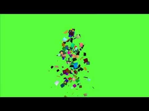 Green Screen FREE HD Video 010 Confetti By Archive