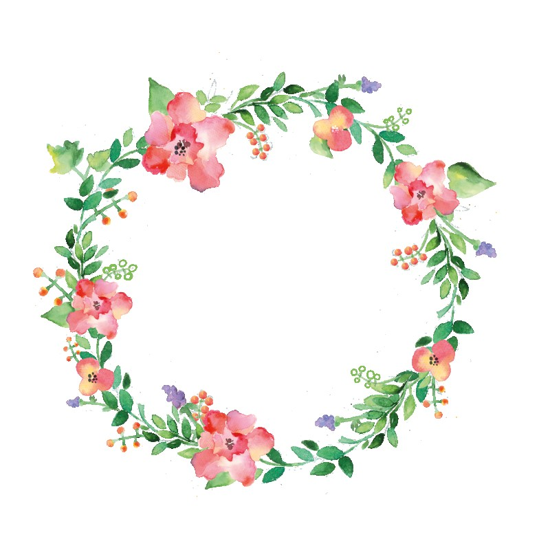 Guirnaldas De Flores Watercolor Flowers Wreath Stock Vector