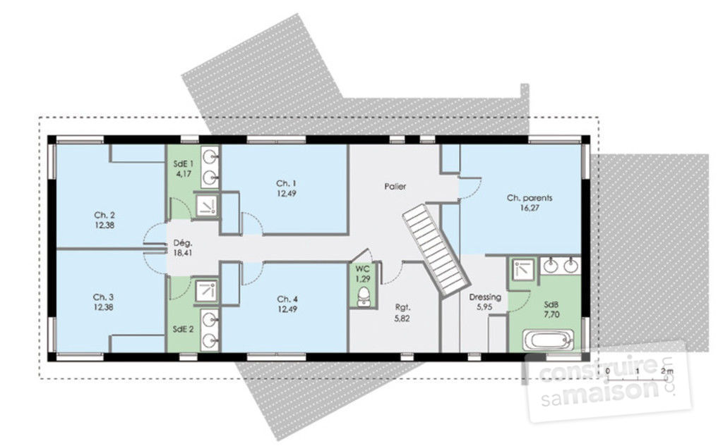 Hauteur Maison Plan Mitoyenne Plain Pied Top Gallery Of