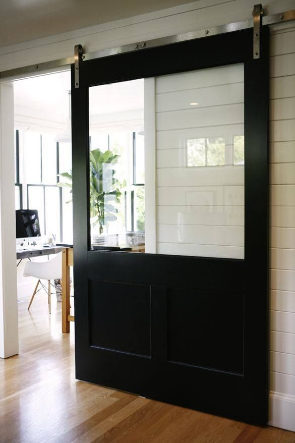 How About This Sliding Barn Door Interiors Pinterest Cocinas