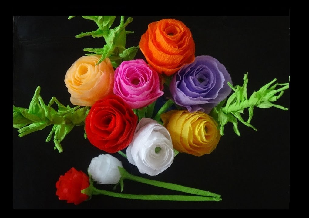 How To Make Paper Flowers Rose Bouquet For Valentine S Day YouTube