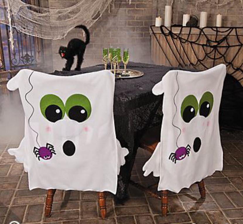 Ideas Para Decorar Sillas Fantasmales En Halloween