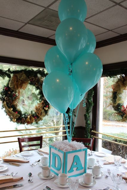 Ideas Para Un Baby Shower Centros De Mesa