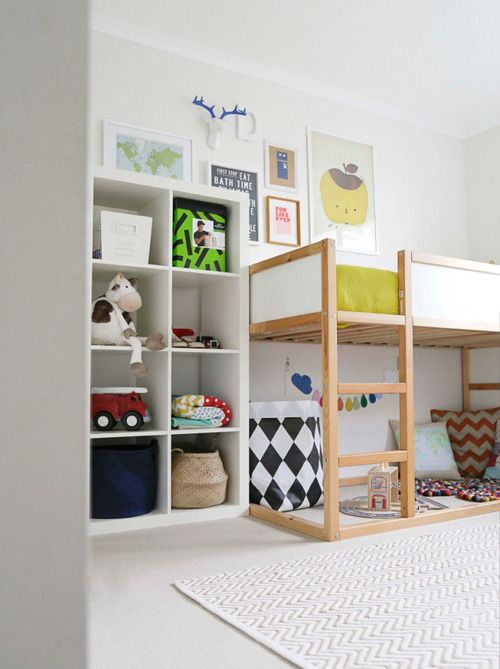 Ikea Bunk Bed Kids Bedroom Interiors Room Pinterest