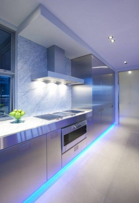 Iluminaci N LED Para Cocinas Pinterest Luces Led De Colores Luz Dise