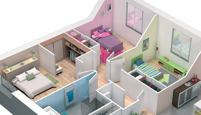 Image De Maison En 3d Plan Ligne Hd Wallpapers