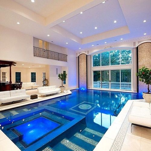 Indoor Pool Inside A Mansion Located Near New York City