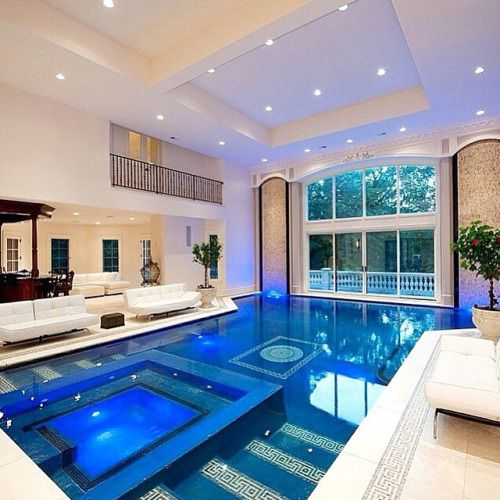 Indoor Pool Inside A Mansion Located Near New