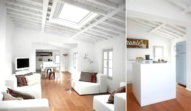 Interior Attic Loft Blanco Vintage Decoraci