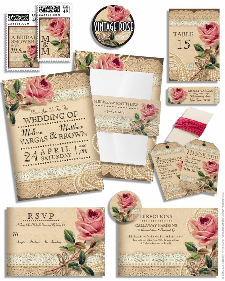Invitaciones Vintage De Boda Para Una Ceremonia Retro A1group Co
