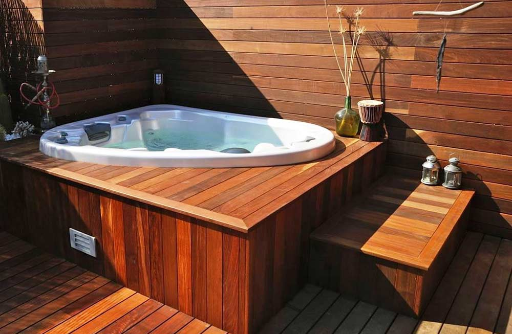 Jacuzzi Exterior 416 Best Outdoor Deck Hot Tub 214
