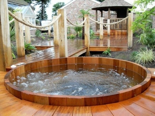 Jacuzzi Exterior Cincuenta Ideas Espectaculares Spa Madera Ipsita Co
