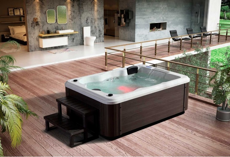 Jacuzzi Exterior Jacuzzis Along With A Silhouette And Corner Spa