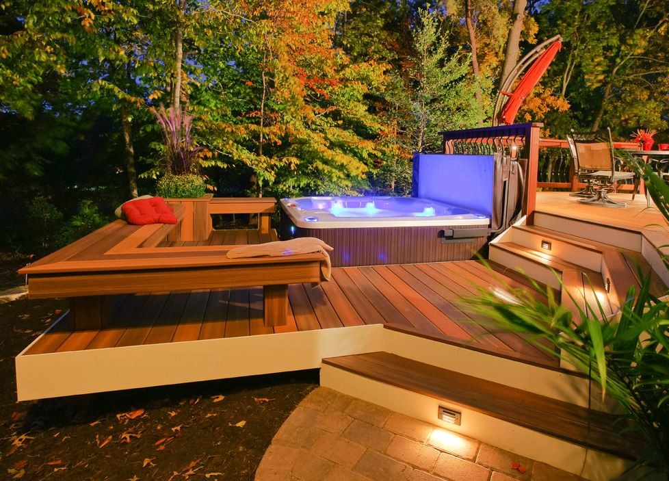 Jacuzzi Exterior Patio Pinterest Deck A1group