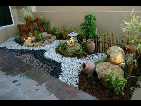 Jardines Decorados Con Piedras DECORATED WITH STONES GARDENS YouTube