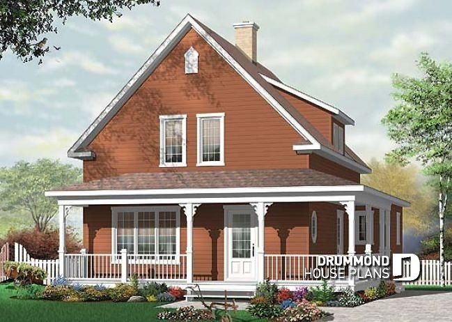 Kit De Maison En Bois Rond 2 Facade 3D Front Of Log Home Model In 10