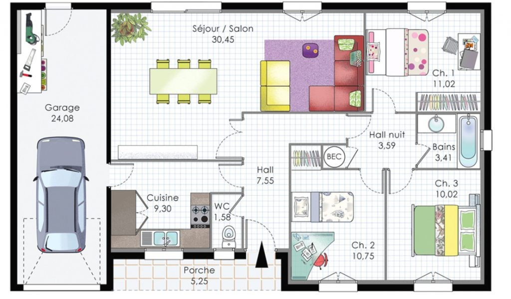 Lire Un Plan De Maison Sketchup Choosewell Co 90m2