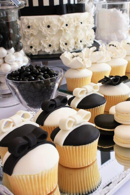 Little Big Company The Blog Black And White Chic Dessert Table By