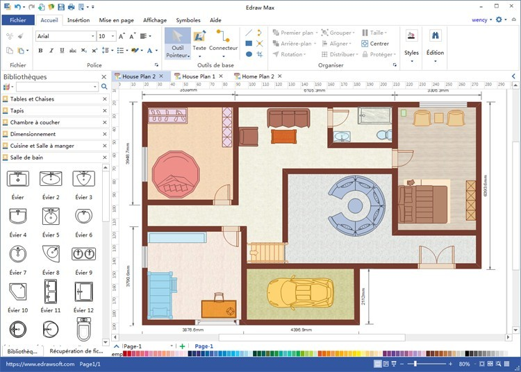 Logiciel Dessin Plan Maison De Pour Le Sol 2D Home Software A1group Co