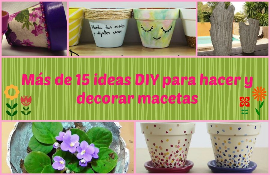 Macetas DIY Para Decoraci N De Interiores Manualidades