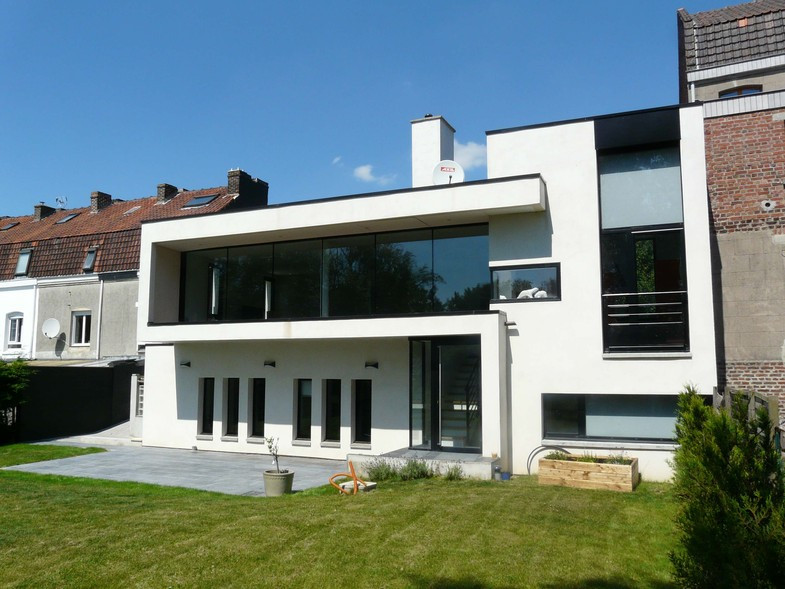 Magnifique Architecture Maison Moderne Belle Photo Facade De