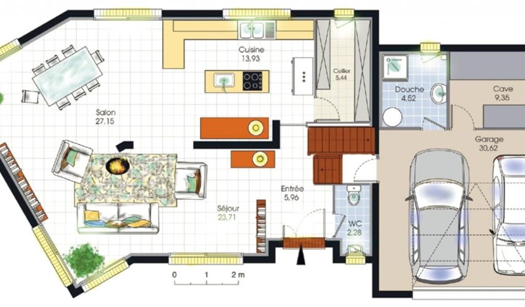 Plans De Maison En L Plan Construction Spa Ambershop Co ...