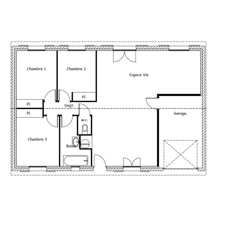 Magnifique Plan Maison 100m2 De Finest Design D With Con L