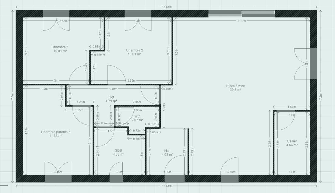 Magnifique Plan Maison 90m2 T3 Luxury Plain Pied Newsindo Of