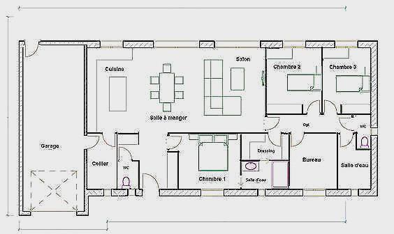 Maison 120m2 Plan De M Plain Pied Co En U Originale