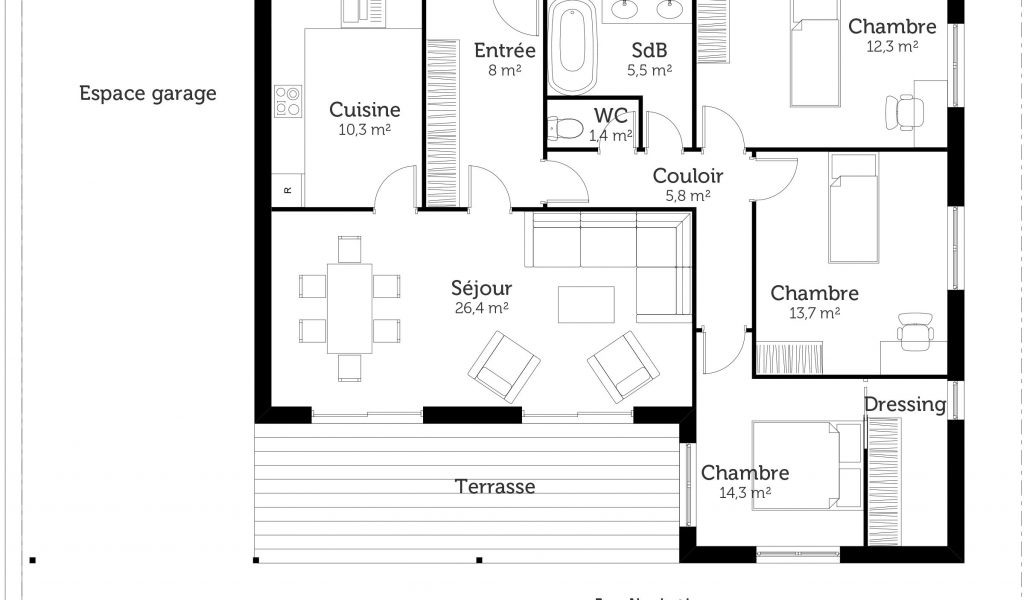 Maison Age 150m2 Plan De Newsindo Co 170 M2 Plain Pied Lzzy