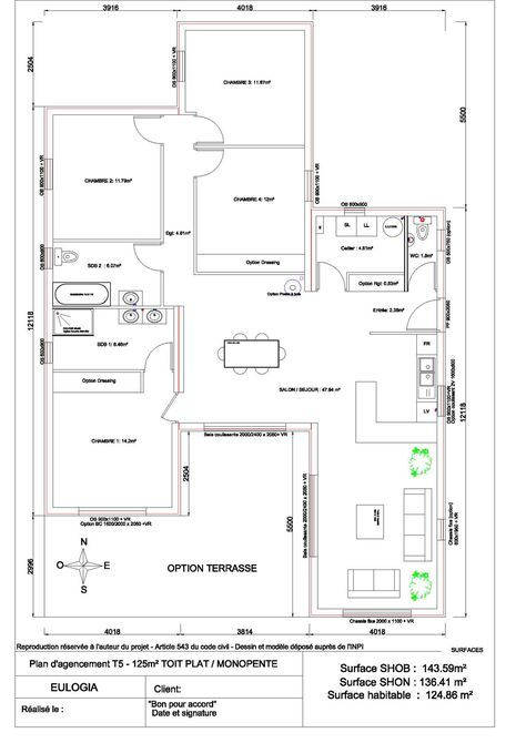 Maison Ossature Bois Contemporaine Plain Pied 125 M2 Plans